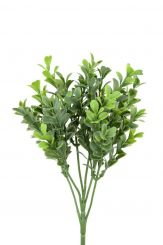 Pavilion Flowers Artificial Boxwood Pick Green Height 25cm