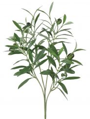 Pavilion Flowers Green Artificial Olive Spray Height 54cm
