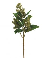 Pavilion Flowers Artificial Skimmia Green Height 53cm