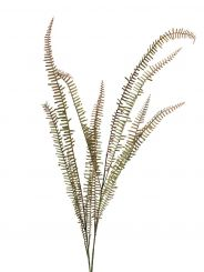 Pavilion Flowers Artificial Feather Fern Spray Green & Brown Height 106cm