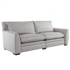 Duresta Greenwich Grand Split Sofa Traccia Herringbone Sea Mist