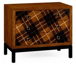 Jonathan Charles Chest of Drawers Tartan in Walnut