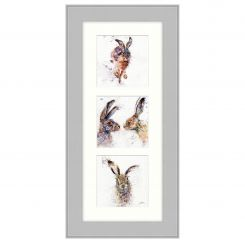 Pavilion Art Hare Trio by Lisa Jayne Holmes - Framed Print