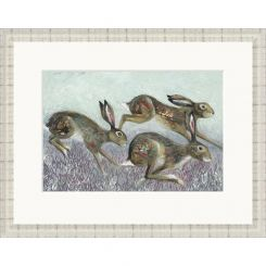 Pavilion Art Hedge Springers by Nicola Hart Limited Edition Framed Print