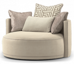 Duresta Hollister Swivel Chair Audrey Truffle