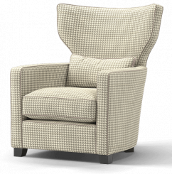Duresta Hollister Wing Chair Hepburn Truffle