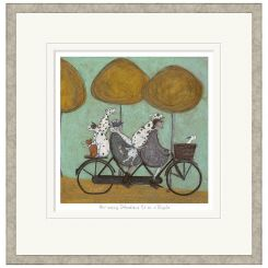 Pavilion Art How Many Dalmations Fit On A Bicycle? by Sam Toft - Limited Edition Framed Print
