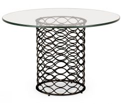 Jonathan Charles Round Dining Table Interlaced