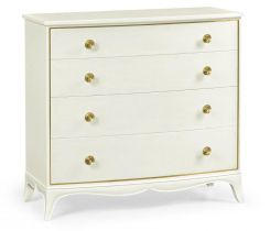 Jonathan Charles Chest of Four Drawers Crackle Ceramic Lacquer