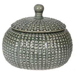 Pavilion Chic Jar Squash with Lid Ceramic - Grey