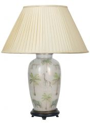 Pacific Lifestyle Jenny Worrall Safari Urn Base Table Lamp With Shade - Large
