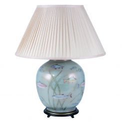 Pacific Lifestyle Jenny Worrall Table Lamp Fish Gold/light Blue