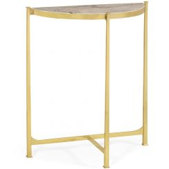 Jonathan Charles Small Demilune Console Table Contemporary