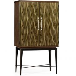 Jonathan Charles Drinks Cabinet in Textured Bronze Chestnut