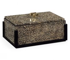 Jonathan Charles Decorative Box Oriental in Midnight Eggshell