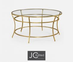 Jonathan Charles Round Coffee Table Hestia in Gold