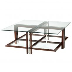 Theodore Alexander Square Coffee Table Doubles
