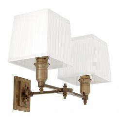 Eichholtz Lamp Lexington Antique brass Including pleated white shade
