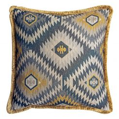 Pavilion Chic Large Cushion Aztec with Fringe