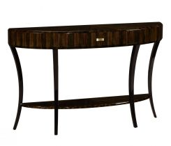 Jonathan Charles Large Demilune Console Table with Drawer