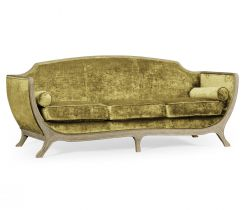 Jonathan Charles Large Sofa Empire in Painted Grey Weathered