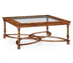 Jonathan Charles Large Square Coffee Table Oyster