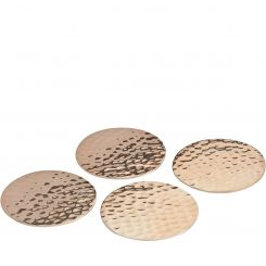 Libra Coasters Hammered Set Of 4 - Copper