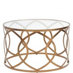 Libra Coffee Table Athos Copper Leaf