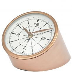 Libra Copper Aviator Mantle Clock