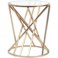 Libra Copper Twist Side Table