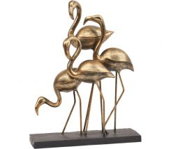 Libra Flamingos Group Ornament in Bronze