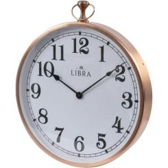 Libra Wall Clock Hursley Round Copper