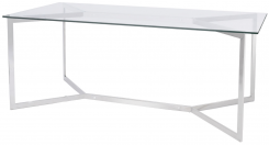 Libra Linton Dining Table stainless steel and glass