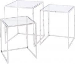 Libra Linton Stainless Steel Nesting Tables set of 3