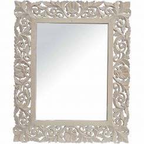 Libra Mirror Medici Grey Carved Rectangular