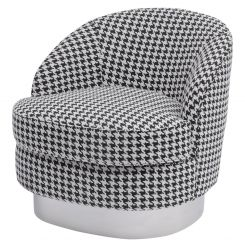 Libra Houndstooth Occasional Chair - Halcyon Collection