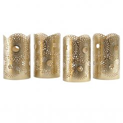 Libra Ora Set Of 4 Iron Gold Tealight Holders