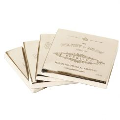 Libra Set Of 4 Bordeaux Coasters Square
