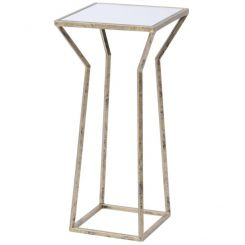 Libra Side Table Mylas With Mirrored Top Small Square