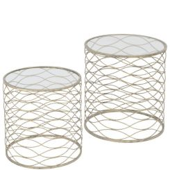 Libra Side Tables Gatsby Set Of 2 Gold Nesting