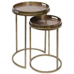 Libra Nesting Side Tables Vienna with Atlas Pattern