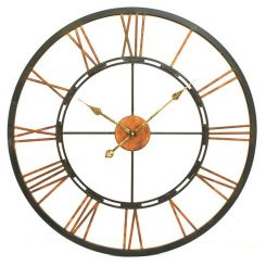 Libra Wall Clock Metal Skeletal