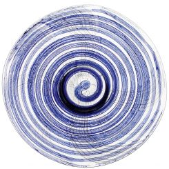 LSA International Linen Indigo Glass Platter