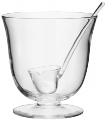 LSA International Serve Glass Punchbowl & Ladle