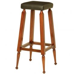 Authentic Models Mayan Upholstered Bar Stool