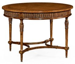 Jonathan Charles Centre Table Napoleon with Fine Inlay
