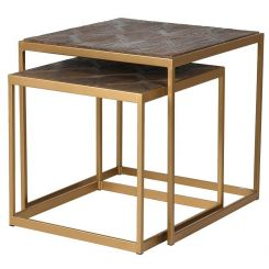 Pavilion Chic Nest of Tables Emeli with Copper Frame