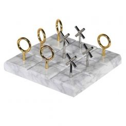 Pavilion Chic Noughts & Crosses Ornament Brontes in Marble