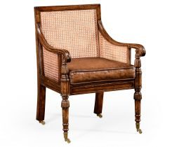 Jonathan Charles Occasional Chair Bergere with Cane Back