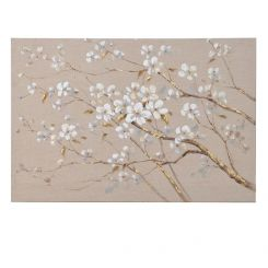 Pavilion Chic Oil Painting Flower Bloom on Canvas
